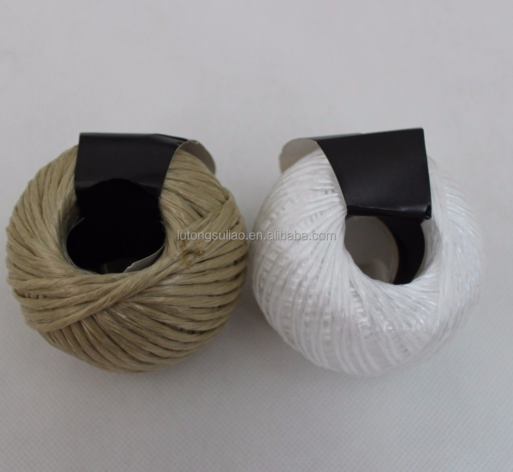 2mm*40m pp baler twine ball,60G pp yarn baler twine,polypropylene1ply twisted twine