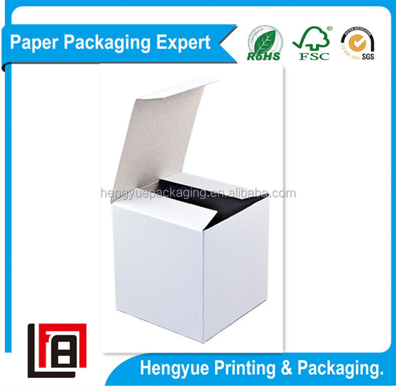 White Cardboard Paper Boxes Clear Shipping Boxes with Free Pattern