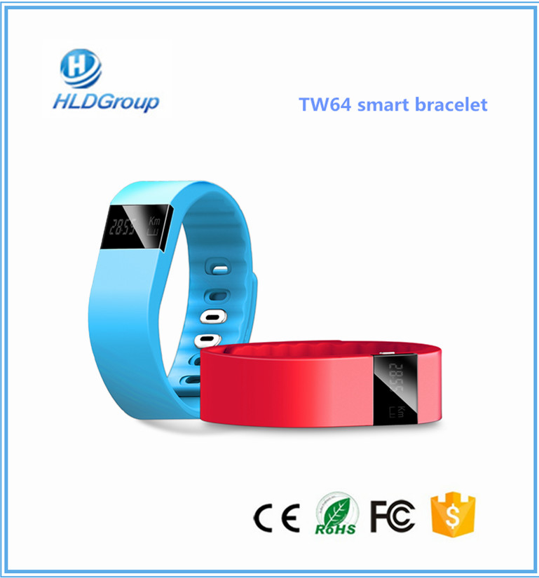 2017 newest and top smart bracelet TW64 on present smart bracelet tw64 market