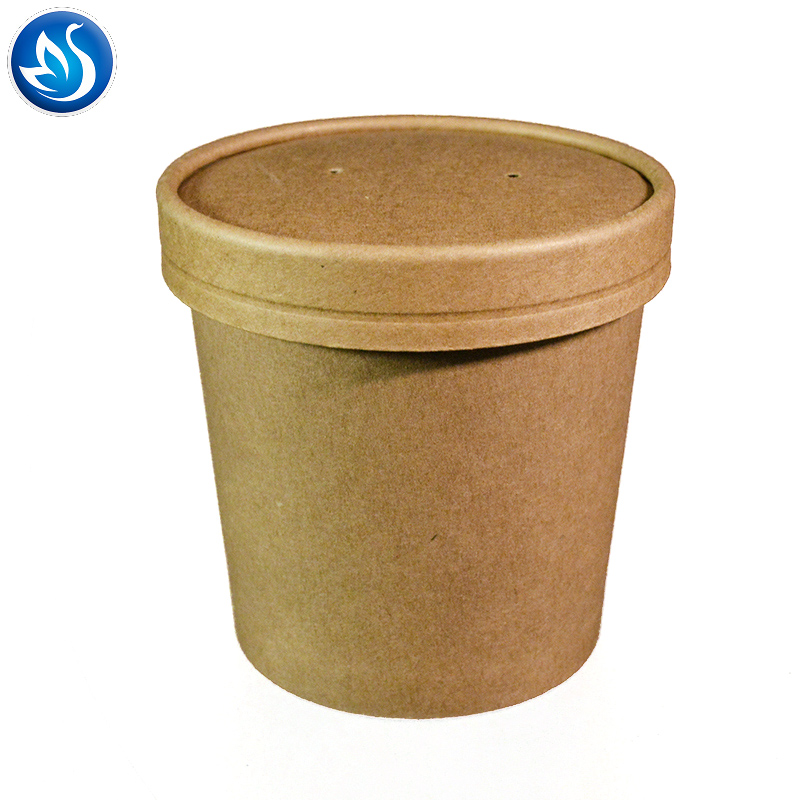 Disposable Paper Take Away Hot Soup Bowl Cup