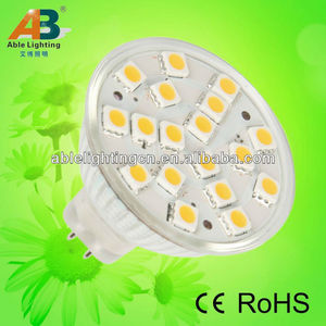 dimmable 220v mr 16 led lamp 5050 2.8w 250lm 18 smd