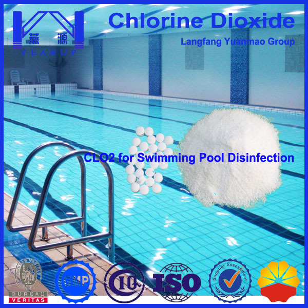 Swimming pool water treatment chemical named chlorine - Swimming pool water treatment chemicals ...