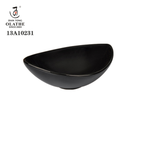 Wholesale high quality black ceramic dishes logo