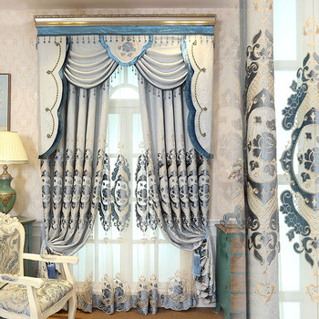 Luxurious Type Of Home Window Curtain With Valance