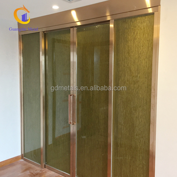 High-quality materials custom design simple decorative stainless steel plated sliding door