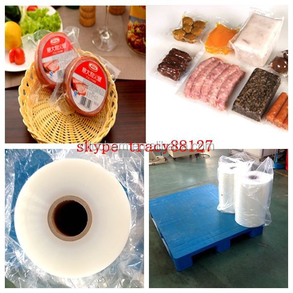 PA/PE/EVOH 7-layer co-extrusion high barrier PE thermoforming film for hotdog sausage packaging bottom lidding fil with FDA