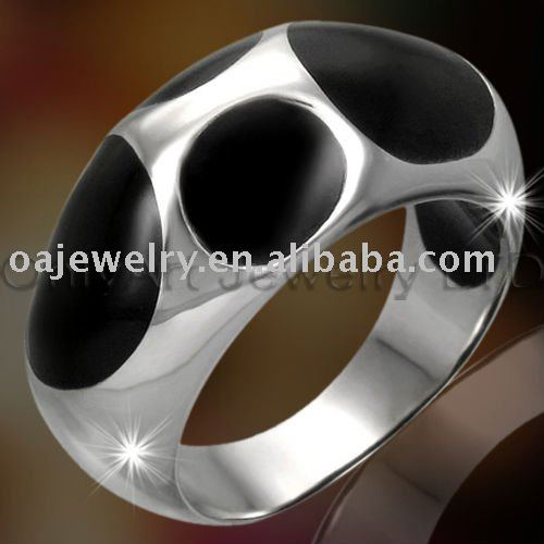 fashion top quality silver resin rings for men