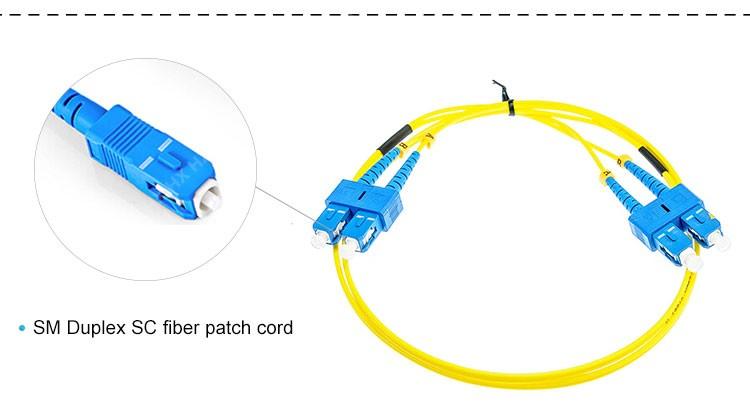 Good Quality 5m 2mm Diameter Sc Sc Duplex Fiber Optic