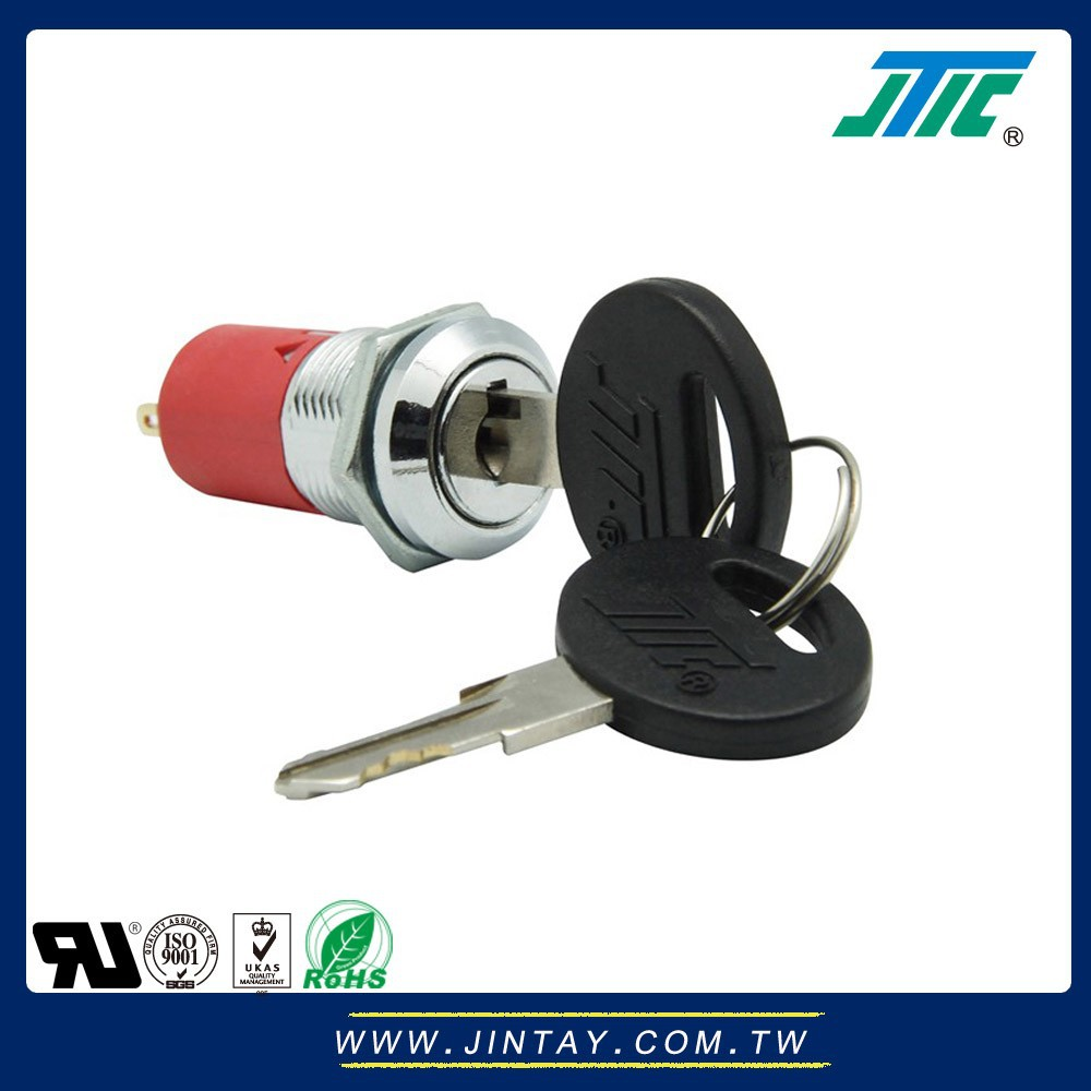 16mm Mid Size Electrical ON ON SPST Key Switch Lock