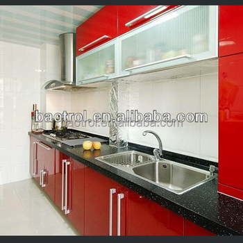 Composite Marble Kitchen Cabinet Table Top Design