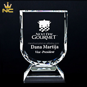Custom Made Sports 3D Crystal Shield For Corporate Shields Awards Gifts Souvenir