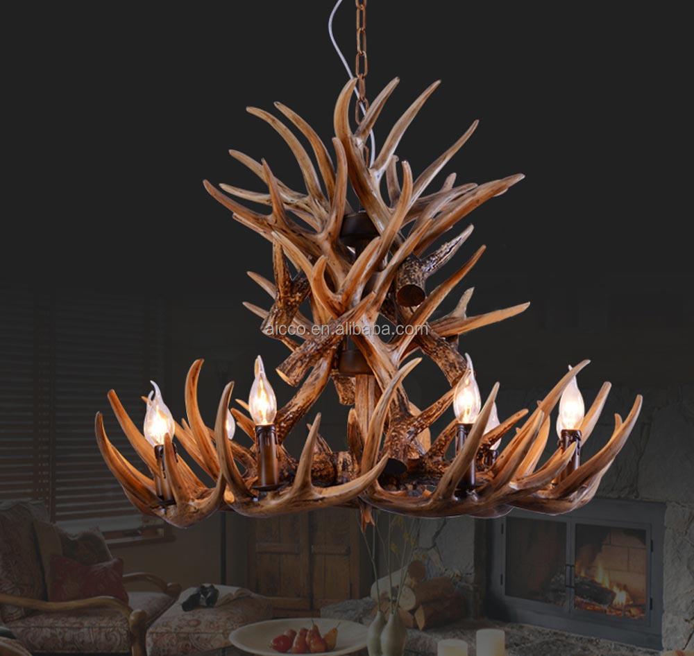 Antler Chandelier Antique Pendant Light Deer Antler Decorative ...