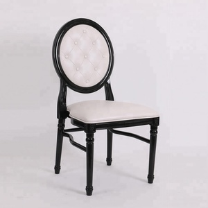 low price new design button back resin louis dinning chair