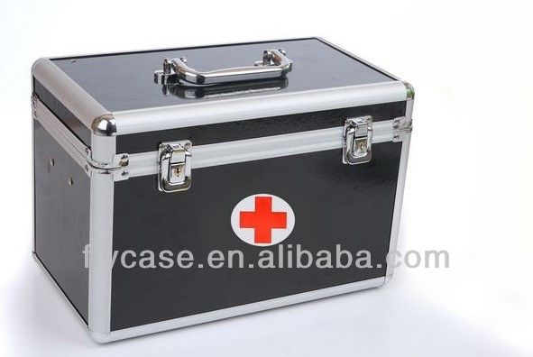 black aluminum frist aid kit box with print logo - CE approved