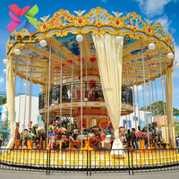 Hot!!Best quality nice Luxury single carousel ride,carousel horse for sale