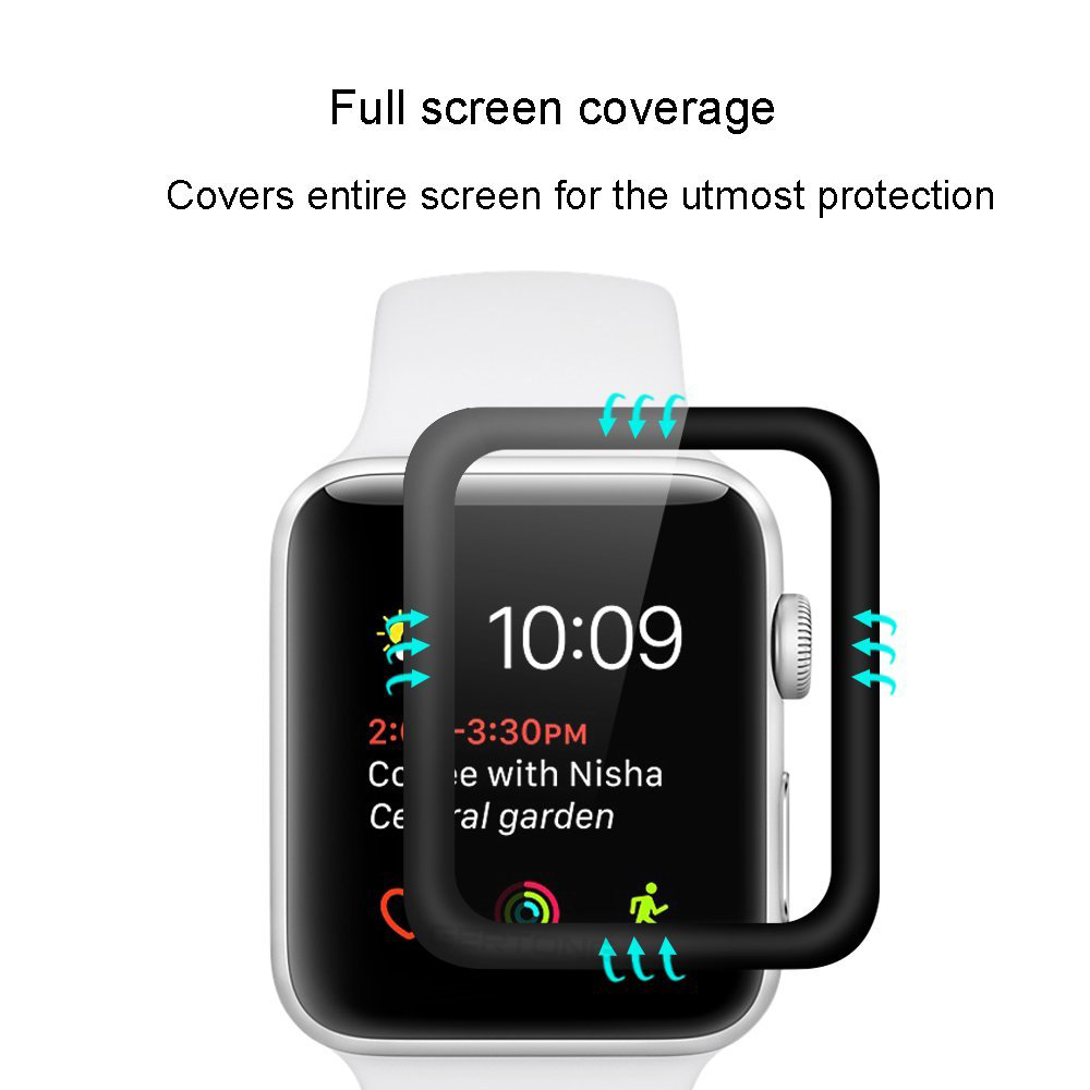 Transparent Full Coverage Schutz film smart armband uhr 9 H 3D screen protector super clear für Apple Uhr
