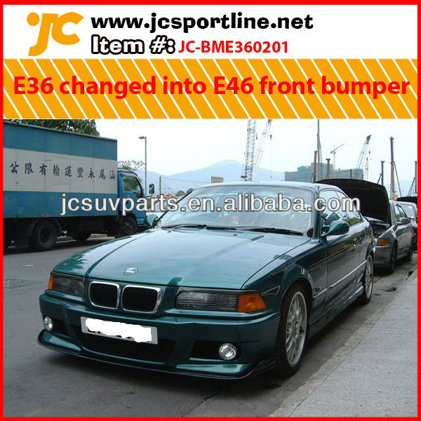For BMW E36 changed into E46 style FRP front bumper