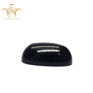 Wholesale Bangkok Onyx Natural Black Gemstone 6*8mm oval black agate stone