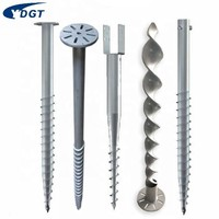 Galvanized Factory Price Solar System Ground Screw For Solar Panel Mounting Rack