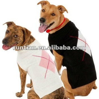 Single Argyle Cotton Knitting Dog Sweaters Buy Easy Knit Dog