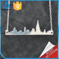Silver Cityscape Travelling Las Vegas necklace