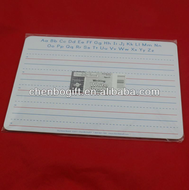 Custom Kids Erasable Cardboard Writing Board,Paper White Board ...
