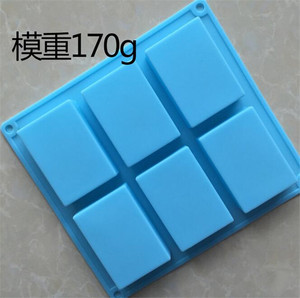 cheap 6 bar large silicone rectangular soap mould