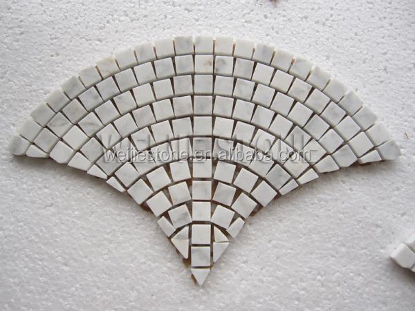 Bianco carrara c pietra di marmo bianco ventaglio mattonelle della