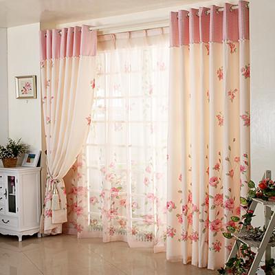 rideau rustique petite imprim floral fen tre rideaux pour rideau de chambre am ricaine si l. Black Bedroom Furniture Sets. Home Design Ideas