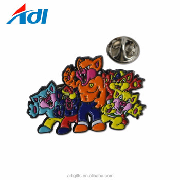 Custom enamel metal lapel pins badges no minimum order