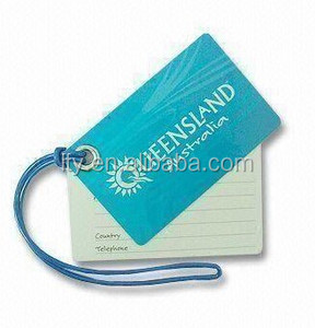 Promotions PVC and Plastic Luggage Tag with Metal Eyelet (M-PT303)