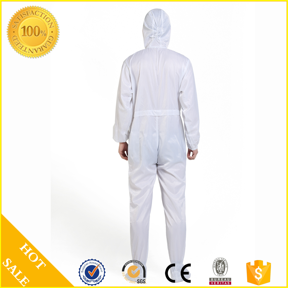 CE ISO Antistatic antistatic cleanroom coverall Coverall With Hood