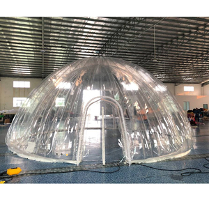 air tight transparent two layers inflatable dome tent for event