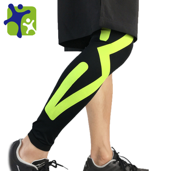 Outdoor Sports Elastic Knee Pads Compression Leg Sleeves Protective Long Knee Brace Support
