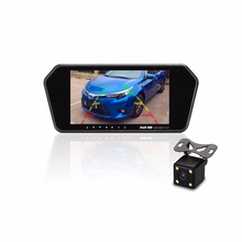 7 Inch HD 12V/24V Car Rearview Mirror Monitor with Anti-glaring Glass/ reversing camera