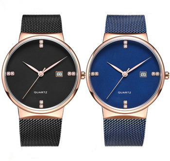 Cool design watch japanese movement man watch with stainless steel mesh watch strap hot sale in Saudi Arabia market