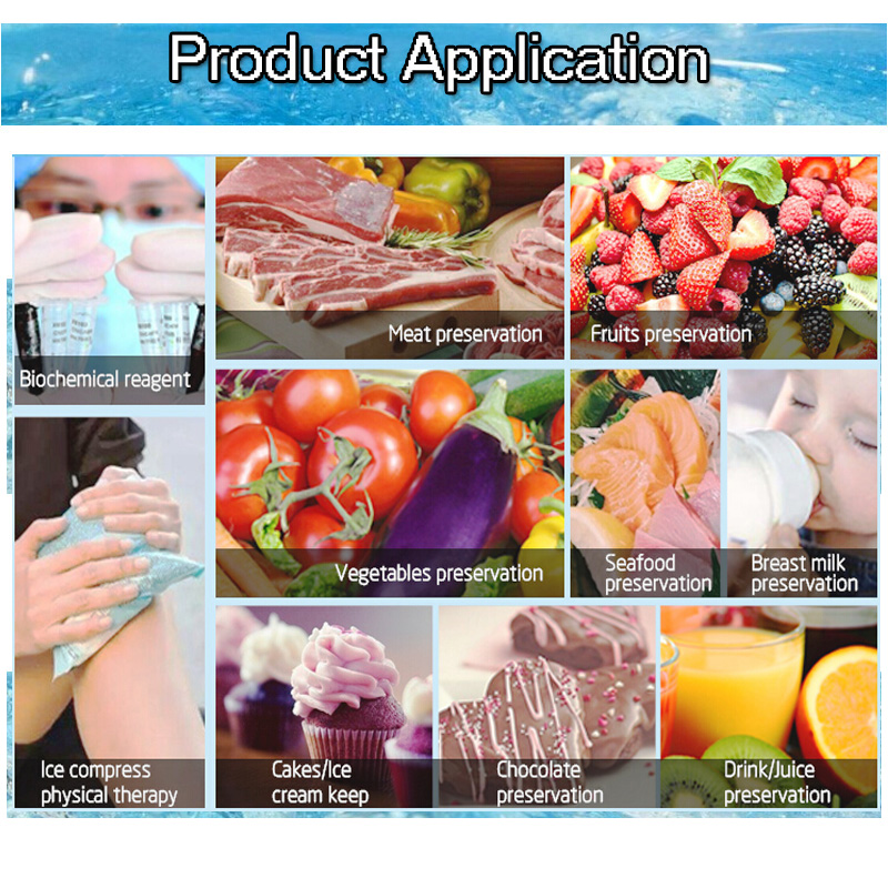 FDA Approved Food Grade Polymer Material and Multi-Purpose Use custom ice packs
