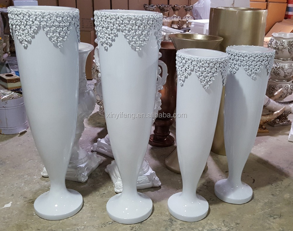 Craft Resin Vase Art Resin Flower Moon Cup Vase Carving Vase For Wholesale Factory