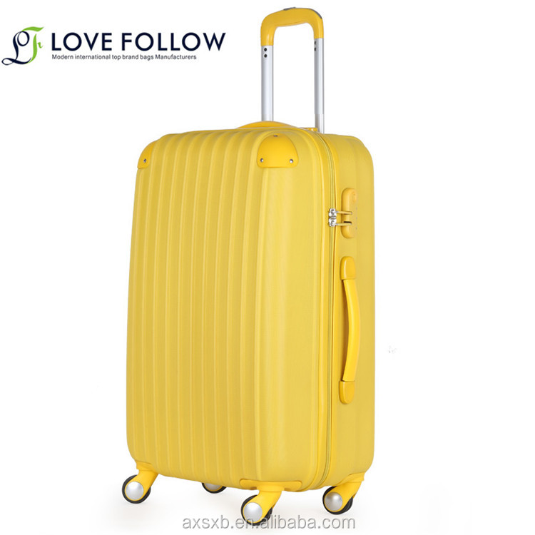 High quality ABS aluminum and steel iron trolley promotion gift popular luggage