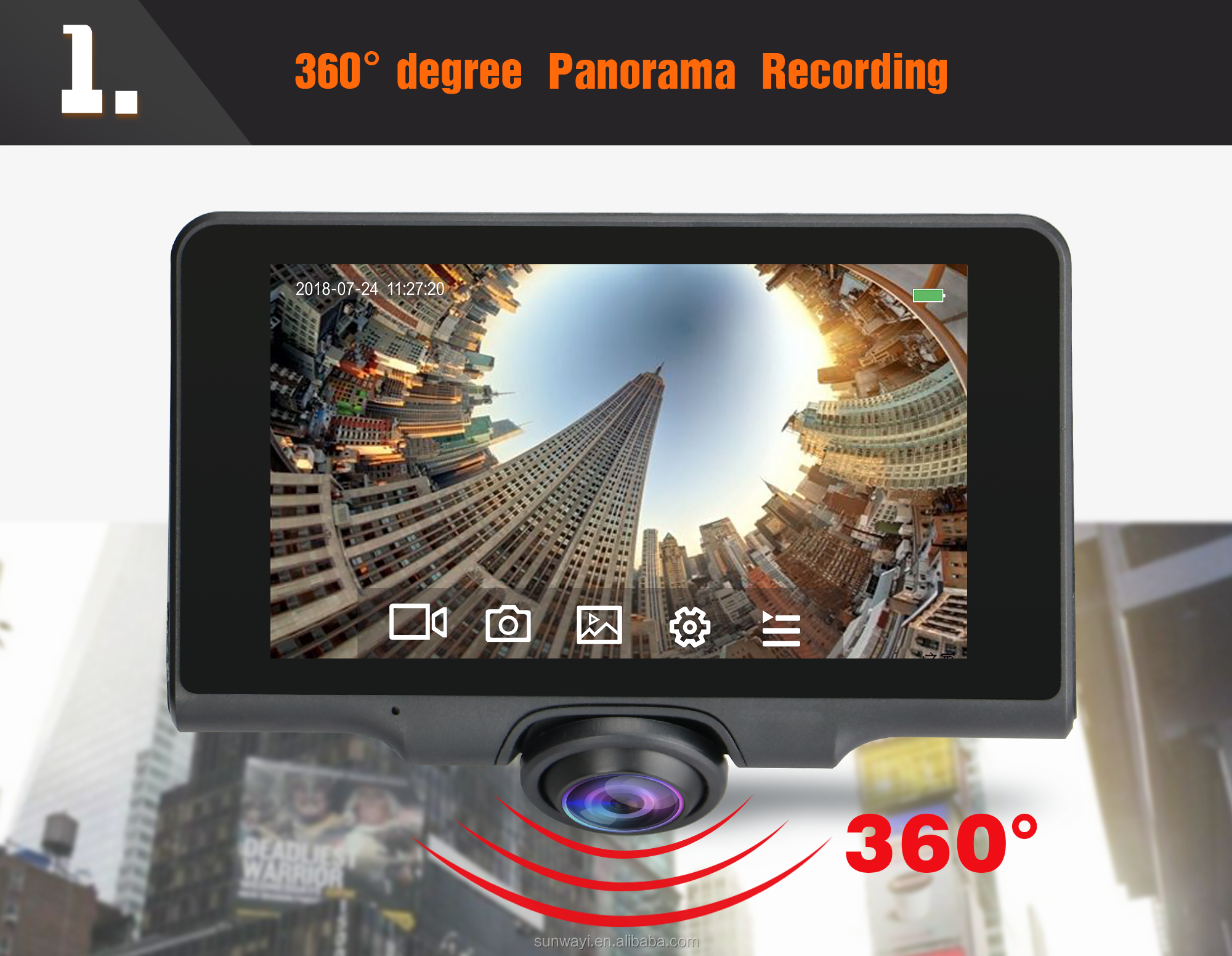 360 Dual Parking monitor GPS tracking playback 4 channel dash cam dvr user manual