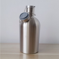 GHO 2L/64OZ mini stainless steel monolayer beer keg