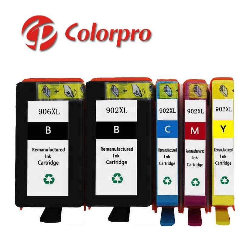 Colorpro 906 902XL ink cartridge compatible for  6968, 6970, 6975, 6978