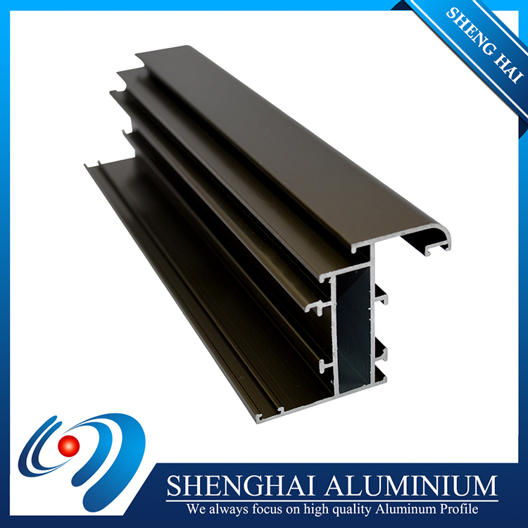 Easy cleaning anodizing cabinet glass door aluminum profile