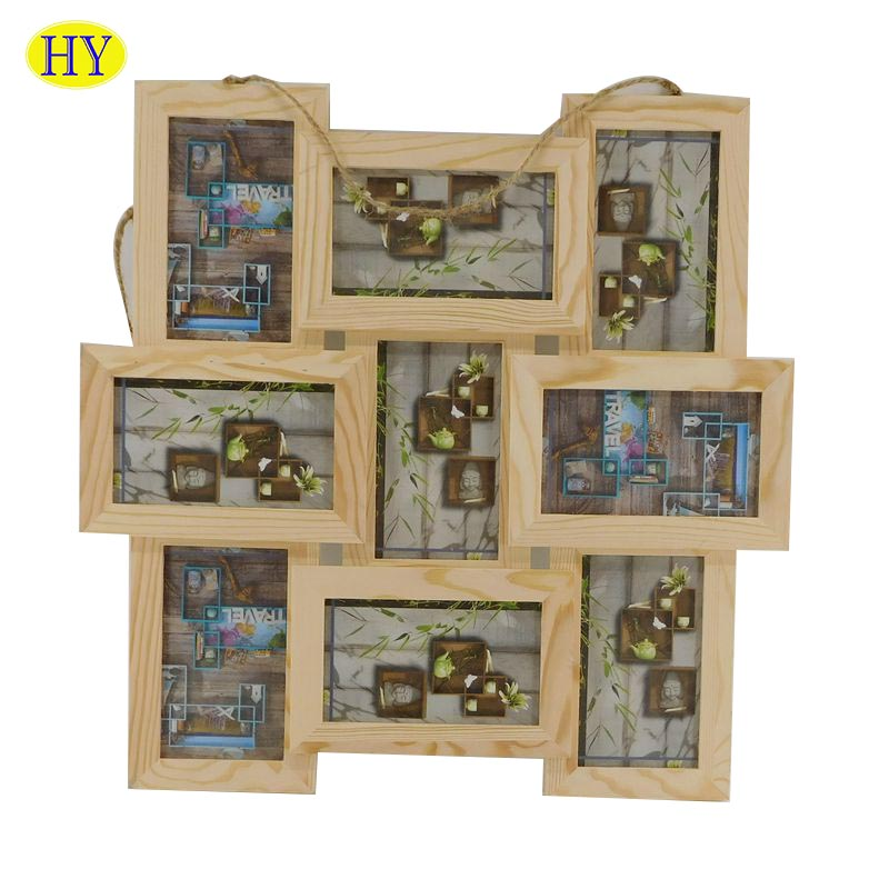 Wall Hanging Multi Wood Photo Frame for Home Decoration