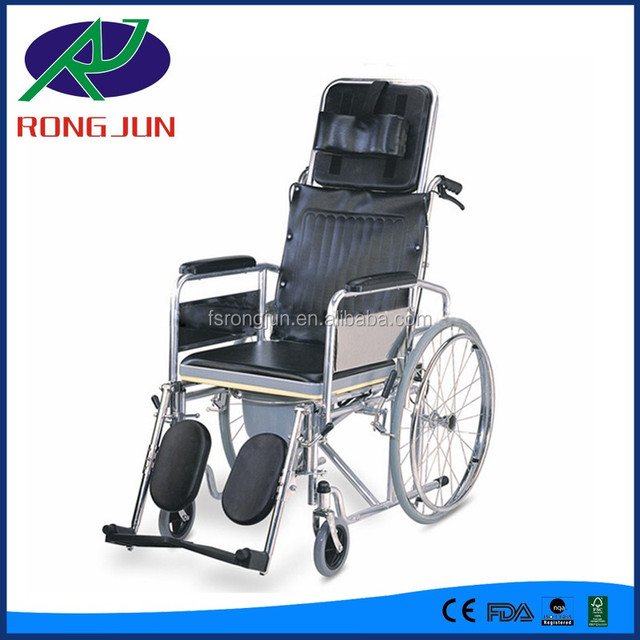 reclining high back commode wheel chair toilet chair  sc 1 st  Alibaba & toilet recliner wheelchair-Source quality toilet recliner ... islam-shia.org