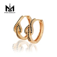 Fashion light luxury jewelry zircon earrings wholesale Mexico crystal ear rings for women
