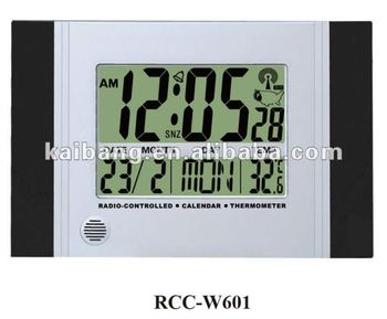 Radio Controlled Jumbo Calendar Lcd Wall Clockus Hot Sale Item