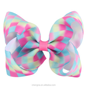 New Arrival Boutique 4 Inch Colorful Bows Hair Clip