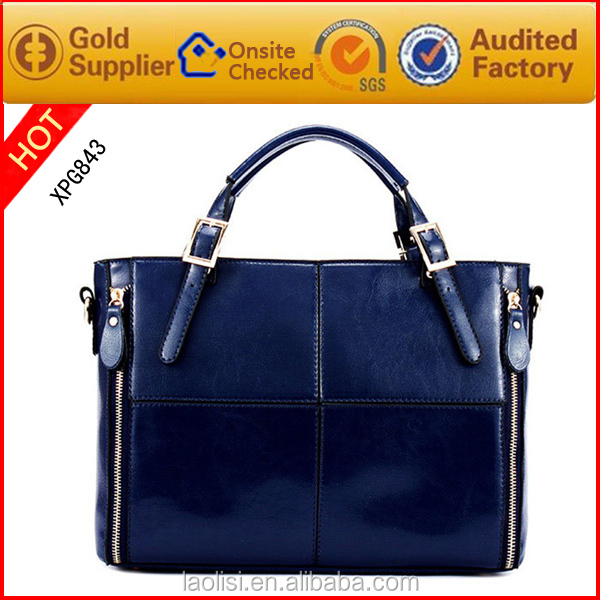 Fast delivery Oil wax leather ladies handbag