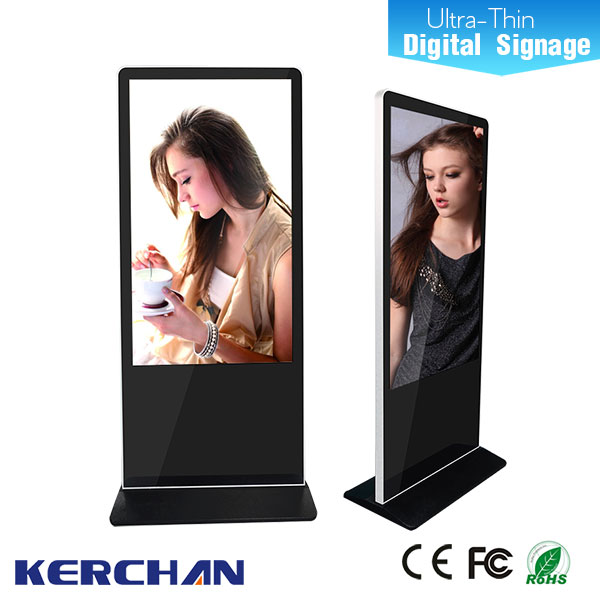 55 inch free standing super thin hign definition chain store advertising player